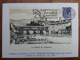 REPUBBLICA - Marcofilia - 40° Anniversario Vittoria + Spese Postali - 1946-.. Republiek