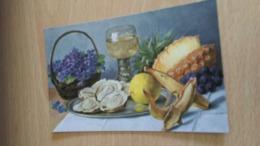 CP  -  Jolie Table ........... - Peintures & Tableaux