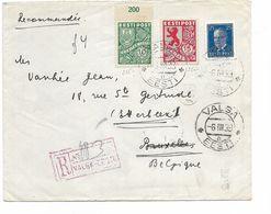 SH 0539. N° Yv. 143A-163-164 VALSA 6.III.39 S/Lettre RECOMMANDEE Vers BRUXELLES (ETTERBEEK). TB - Estonia