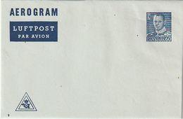 Daenemark / 1953 Ff. / Aerogramm Mi. LF 11 ** (BN48) - Ganzsachen