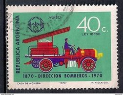 Argentina 1970 - Airmail - The 100th Anniversary Of The Buenos Aires Fire Brigade - Usati