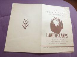 PROGRAMME LA QUINZAINE DE L'EXPOSITION 20/8-3/9 1944 L'AME CAS CAMPS PRISONNIERS DES GUERRE RAYMOND BOUR - 1939-45