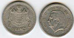 Monaco 2 Francs ( 1943 ) GAD 133 KM 121 - Monaco
