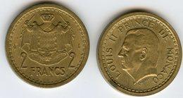 Monaco 2 Francs ( 1943 - 1945 ) GAD 134 KM 121a - Mónaco