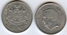 Monaco 5 Francs 1945 GAD 135 KM 122 - Monaco