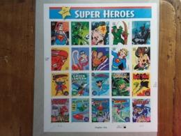 STATI UNITI - Foglietto Supereroi E Fumetti DC Comics - Autoadesivo Nuovo (sottofacciale) + Spese Postali - Blocchi & Foglietti