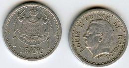 Monaco 1 Franc ( 1943 ) GAD 131 KM 120 - Monaco