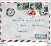62 - 63 - Enveloppe Envoyée De Tananarive En Suisse 1956 - Attention Léger Pli - Briefe U. Dokumente