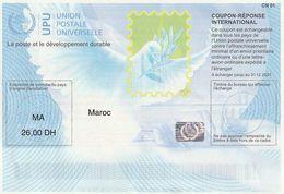 Maroc. Coupon-Réponse International. Valeur D'envoi Prioritaire Ou Par Avion. - Briefmarken