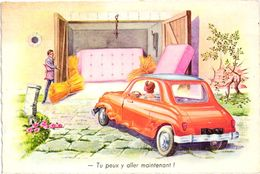 AUTOMOBILE .. HUMOUR ... TU PEUX Y ALLER MAINTENANT !! .. FEMME AU VOLANT .. - Turismo