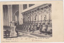 Vilvoorde - Binnenzicht Vande Kerk (gelopen Kaart Met Zegel) Kaart Van Voor 1900 - Vilvoorde