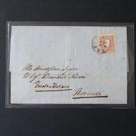 Lombardo-Veneto, 10 Soldi Bruno Del 1859 Su Lettera -A27 - Lombardo-Veneto