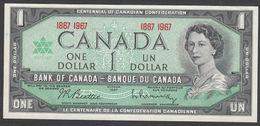CANADA  : 1  Dollar - 1967 - P84a -  Centennial Of Canada Confederation - Queen Elisabeth II - UNC - Canada