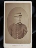 Photo CDV Ad. Braun à Paris - Portrait Militaire , Eug. Duvier, école De St Cyr, Circa 1885-90 L508 - Fotos