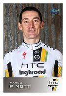 CARTE CYCLISME MARCO PINOTTI TEAM HTC HIGHROAD 2011 - Wielrennen