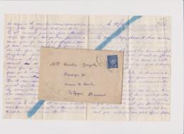 LETTE CENSURE ALLEMANDE DEPART PINON (AISNE) Pour BRAINE LE COMTE BELGIQUE 1943 - 1939-45
