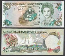 CAYMAN : 5  Dollars - 2001 - P27  - Queen Elisabeth II - UNC - Kaimaninseln