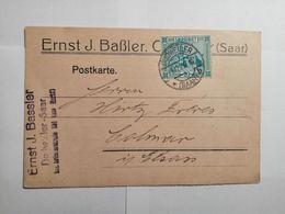 Postkarte Saar 1925 - Lettres & Documents