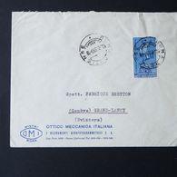 Repubblica,  55 Lire Unesco Isolato Su Busta Per La Svizzera      -A37 - 1946-.. République