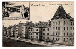 Colmar Im Elsass, Neue Kaserne Der Jäger Zu Pferde No. 3, Alte Ansichtskarte 1905, Caserne - Colmar