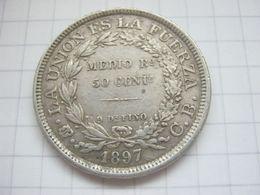 Bolivia , 50 Centavos 1897 - Bolivia
