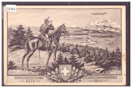 ARMEE SUISSE - MILITAIRE - OCCUPATION DES FRONTIERES 1914 - TB - Sonstige