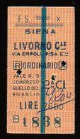 Biglietto Ordinario Siena -Livorno Centrale - Treni