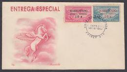 FDC ENTREGA ESPECIAL. AVIONES HABILITADOS. CUBA 1960. EDIFIL 836/37. CACHÉ LILY - FDC