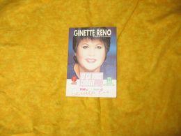 Autographe Carte Signée Chanteuse Ginette Reno - Autographes
