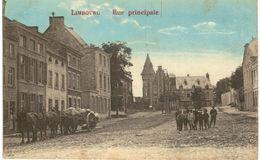 LIMBOURG   Rue Principale Avec Un Attelage Et Chevaux. - Limbourg