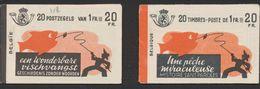 """Carnet De Timbre Poste (1941) - Lot De 2 Carnets A35a ** Et A35b ** """"Une Pêche Miraculeuse"""" (FR / NL) 20F, MNH / N°528 - Booklets 1907-1941"""