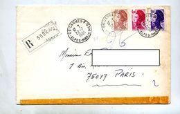 Lettre Recommandée Cannes  F Sur Gandon - Marcophilie (Lettres)