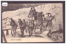 POSTE DE MONTAGNE - DILIGENCE - ATTELAGE - TB - Suisse