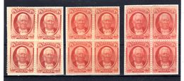 Hawaï 1864-71, Kamamalu, Kamehameha IV, Kamehameha V, 22-23-24 (*) Mint No Glue, Cote Yv. 800 €,  3 Shades Of Color - Hawaï