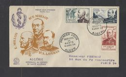 ALGERIE.  YT  FDC   N° 304/306  Oblitération 1er Jour  4-1-54 - FDC