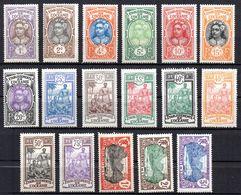 Col17  Colonie Océanie N° 21 à 37 Neuf X MH Cote 66,00€ - Unused Stamps