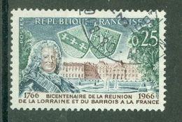 FRANCE - N° 1483 Oblitéré  - Bicentenaire De L'intégration De La Lorraine Et Du Barrois. - Gebruikt