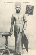 CPA Asie Inde Pondichery Un Marécar Marécars Timbre Colonies Etablissements De L'Inde - India