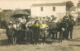 85 Olonne Sur Mer, Carte Photo D'une Charrette à âne Fleurie Et D'un Groupe - Sables D'Olonne