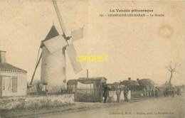 85 Champagné Les Marais, Le Moulin, Affranchie 1908, Visuel Pas Très Courant - France