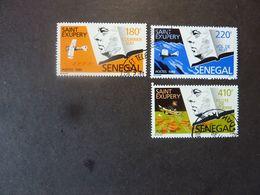 SENEGAL, Année 1989, 3 Timbres SAINT EXUPERY  Oblitérés - Senegal (1960-...)
