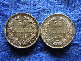 FINLAND 50 PENNIA 1915, 1916, KM2.2 - Finlande