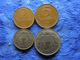 LATVIA 2, 5, 10, 50 SANTIMU 1922, KM2, 3, 4, 6 - Lettonie