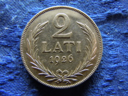 LATVIA 2 LATI 1926, KM8 Stain - Lettonie
