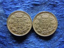 SERBIA 50 PARA 1915a W/o Name KM24.4, 1915a With Name KM24.5 - Serbie