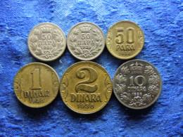 YUGOSLAVIA 50 PARA 1925b, 1925p KM4, 50 PARA, 1, 2, 10 DINARA 1938 KM18-20, KM22 (6) - Jugoslavia