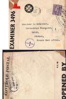 """L- Censure Anglaise :N° 3496-  Cachet:""""Ouvert Par Les Autorités De Contrôle """" - Guerra Del 1939-45"""