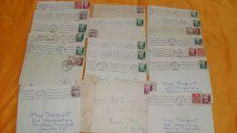 LOT DE 20 LETTRES DONT 15 AVEC CORRESPONDANCES DE 1954 ET 1955..DU MAROC..POUR MONTPELLIER FRANCE + TIMBRE. A DECOUVRIR - Maroc (1891-1956)