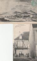 2 CPA:AY CHAMPAGNE (51) VIEUX PRESSOIR ÉPOQUE HENRI IV ANIMÉE,GRAVURE D'APRÈS JOAN EN 1610.ÉCRITES - Ay En Champagne