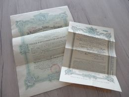 X 3 Documents Assurance Police Mutuelle France Et Colonies - Historical Documents